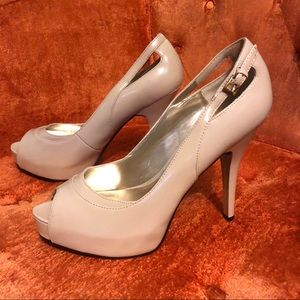 GUESS Louisa Peep-toe Stiletto Platform Pumps